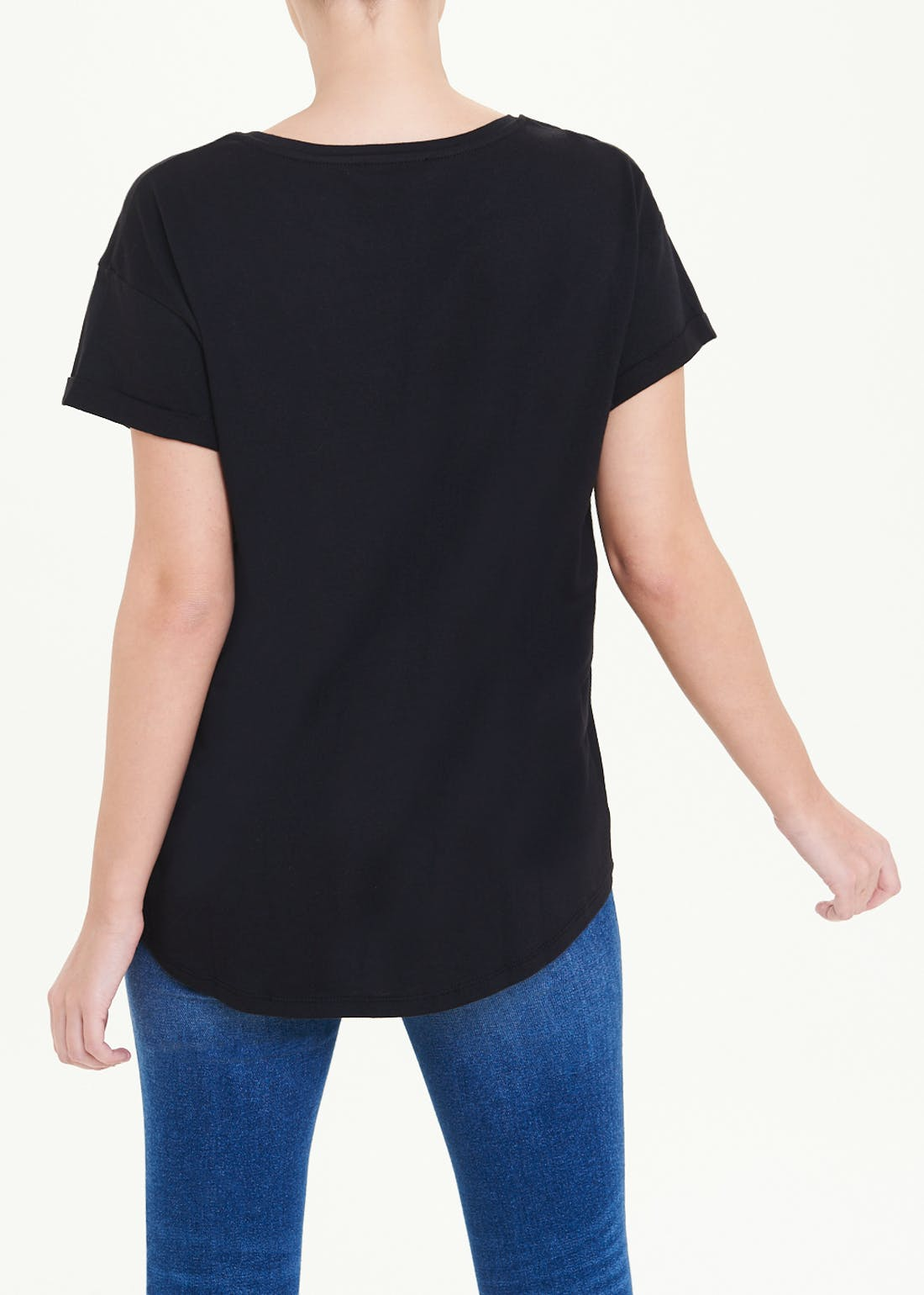 Papaya Petite Longline Basic T-Shirt