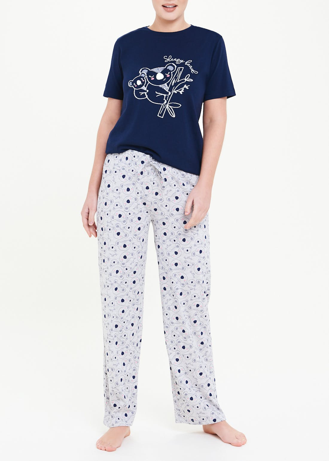 Mix And Match Koala Pyjama Top