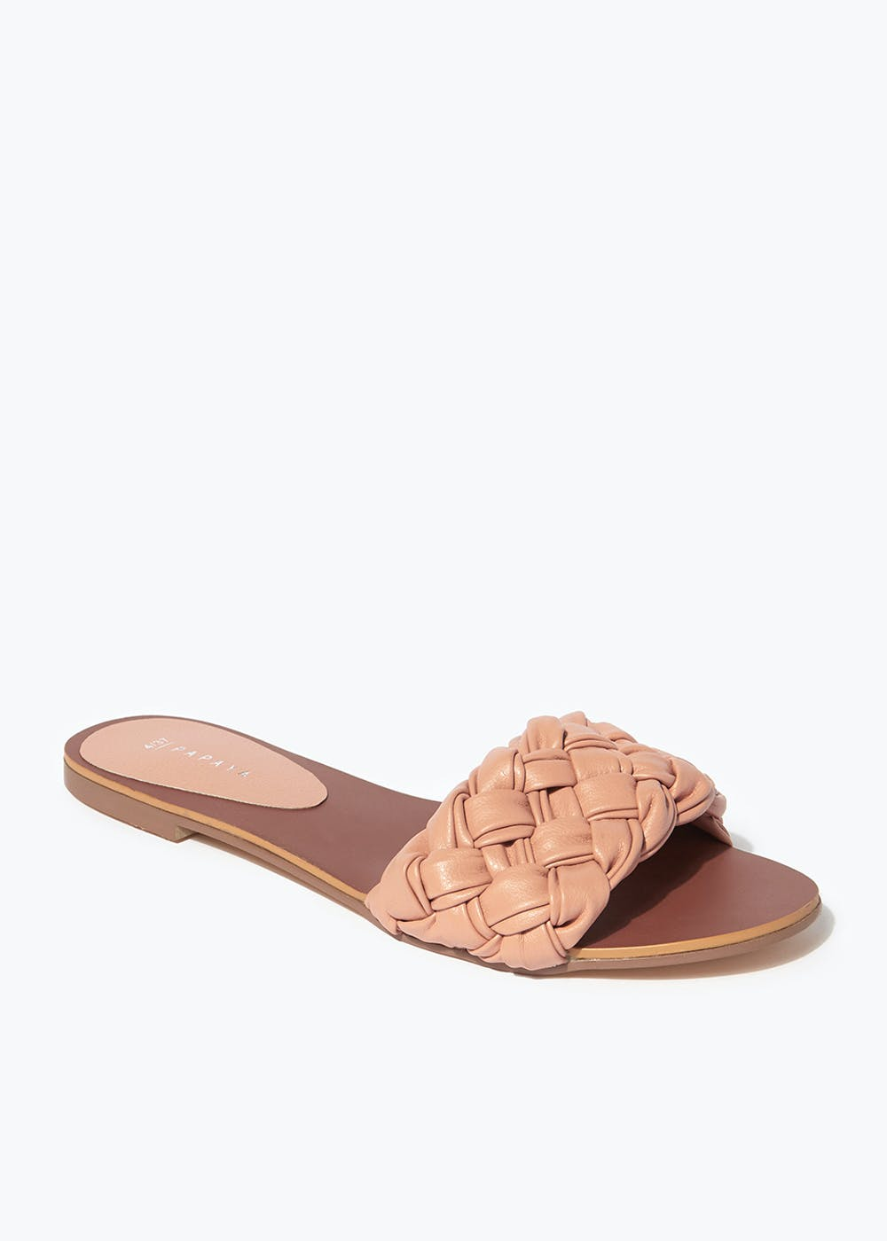 Pink Woven Mule Sandals – Pink
