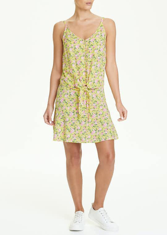Floral Print Tie Front Co-Ord Cami