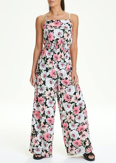 Strappy Floral Jumpsuit