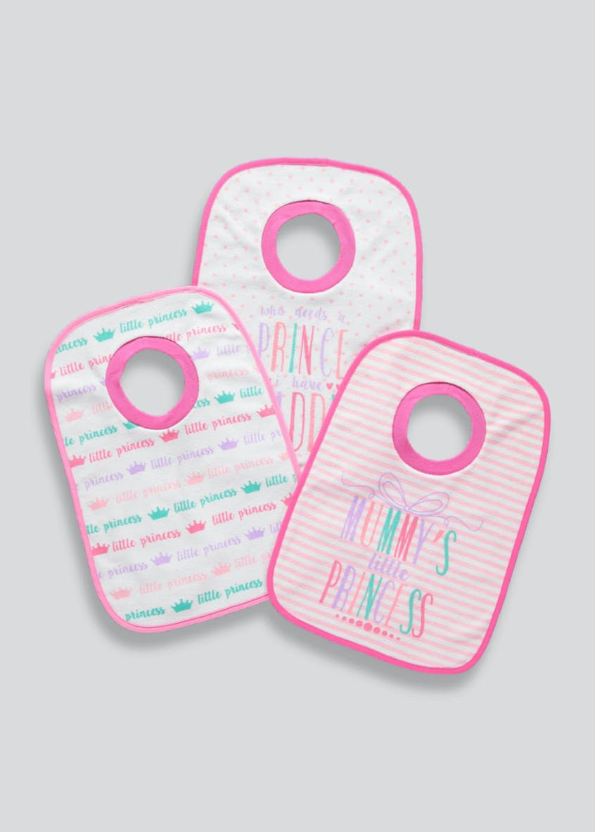 Girls 3 Pack Bibs (One Size)