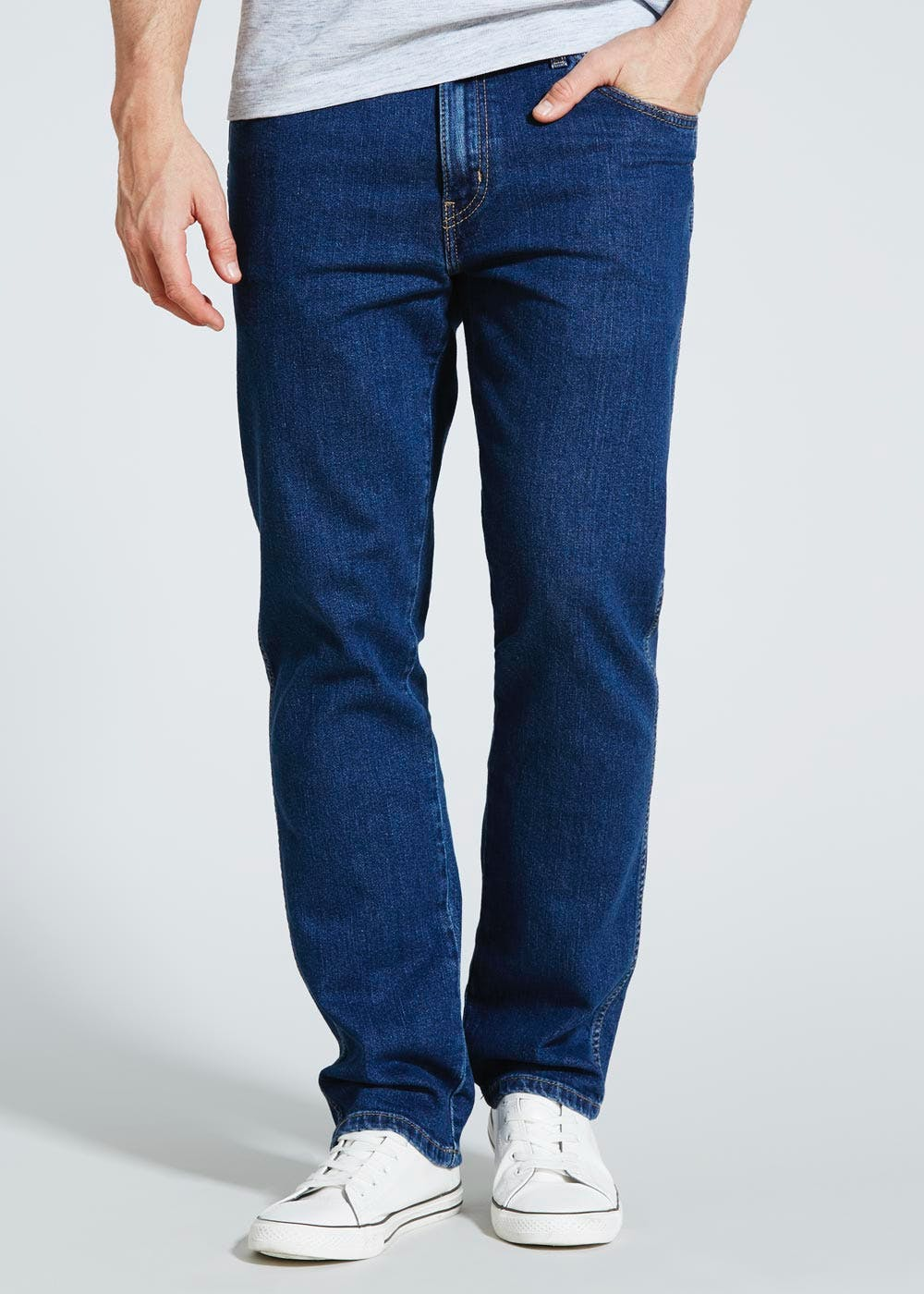Wrangler Darkwash Stretch Fit Jeans Blue Matalan