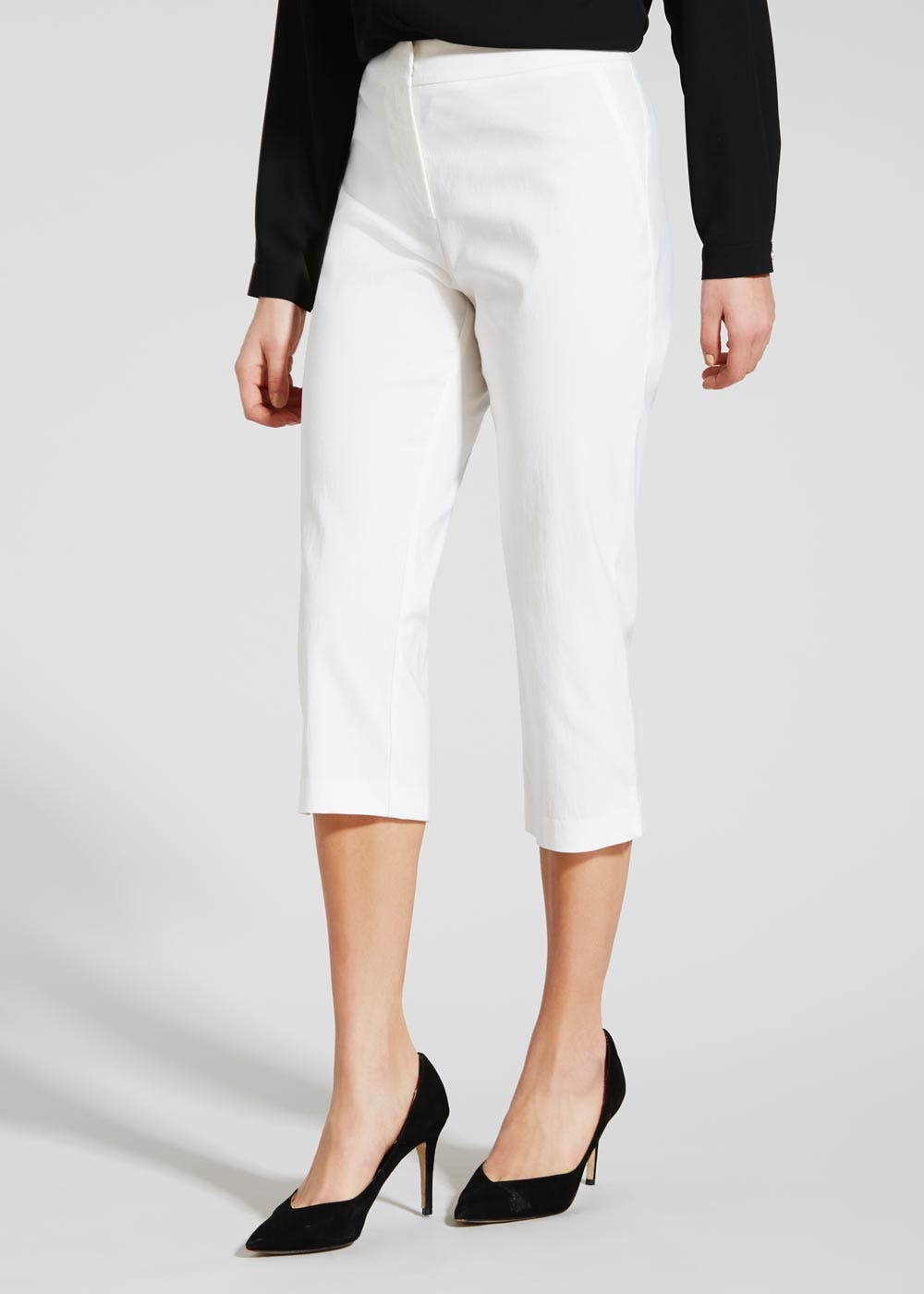 limited guantity new design closer at Cropped Trousers – White – Matalan