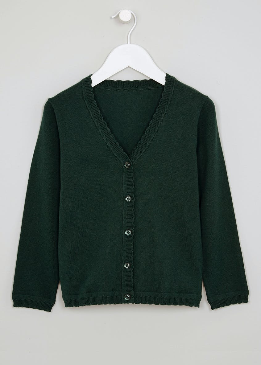 Girls Scallop Edge School Cardigan (3-13yrs)