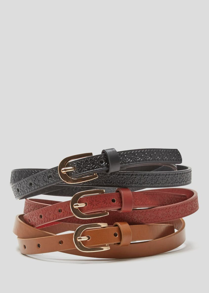 3 Pack Embossed Belts