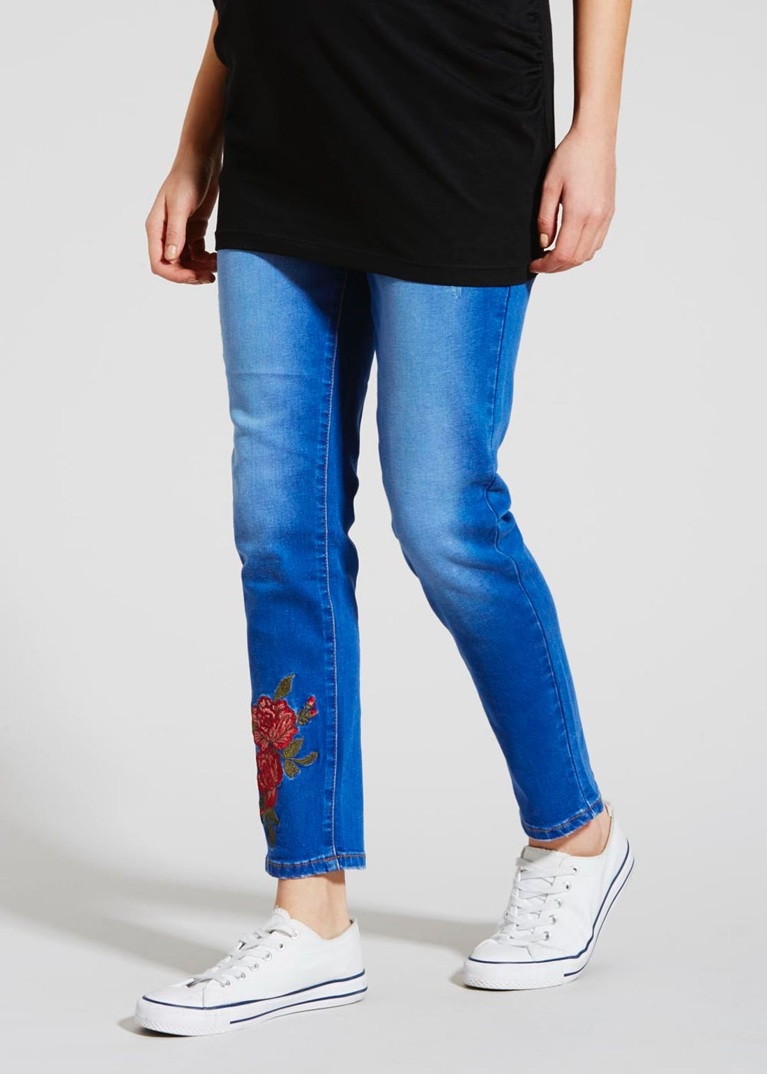 Maternity Embroidered Jeans