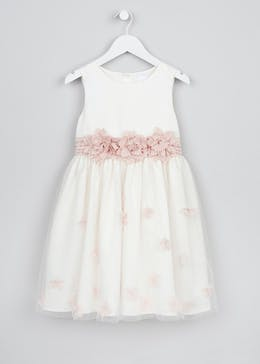 Girls Corsage Flower Girl Dress (3-13yrs)