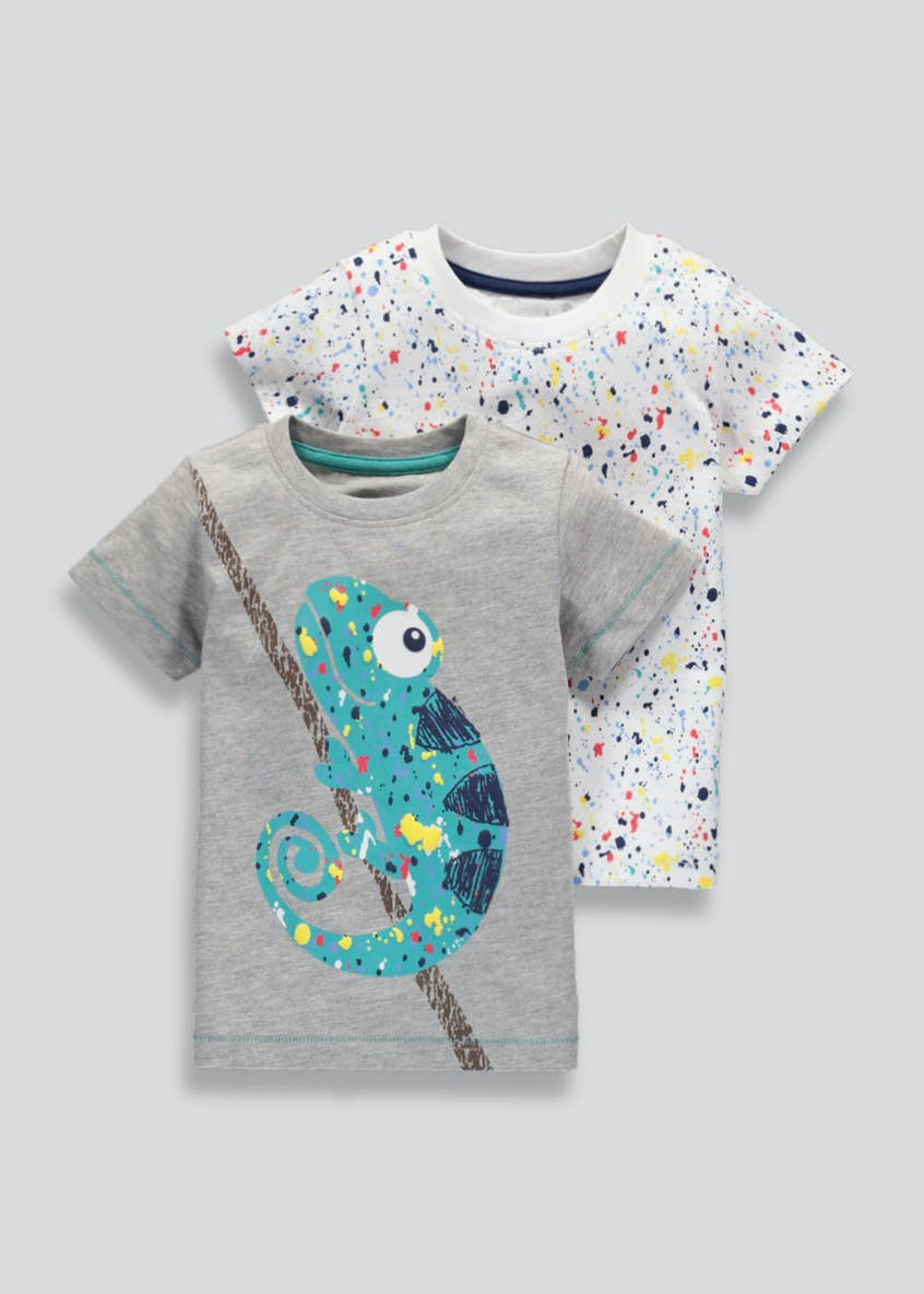 Boys 2 Pack Printed T-Shirts (3mths-5yrs)