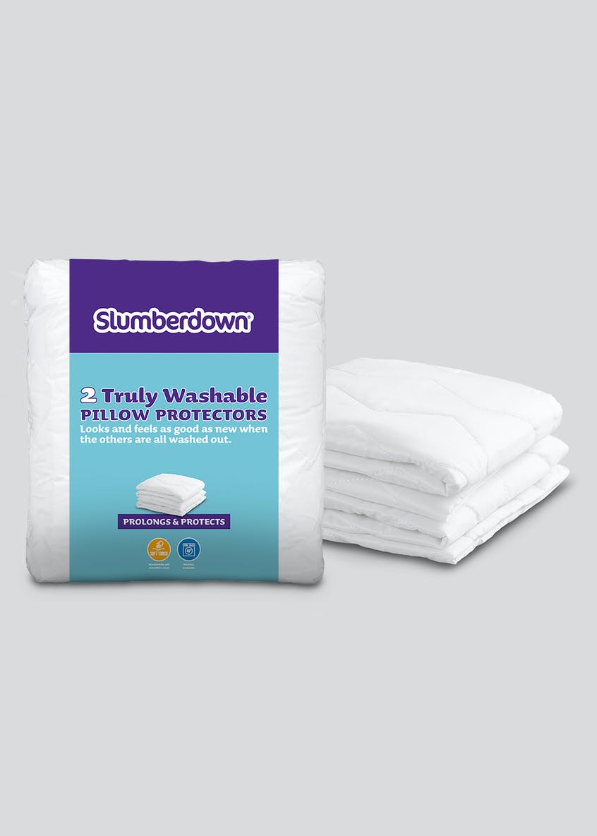 Slumberdown 2 Pack Washable Pillow Protectors
