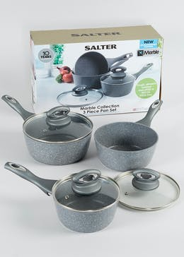 Salter Marble Collection 3 Piece Pan Set (RRP £80)