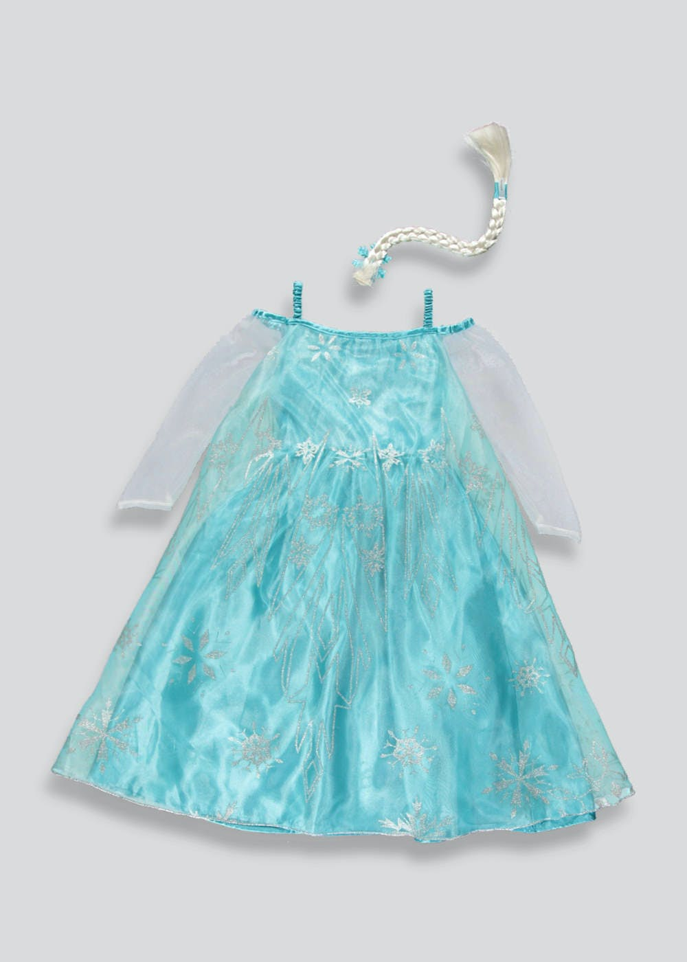 Kids Disney Frozen Elsa Dress Up Costume (3-11yrs) – Blue – Matalan