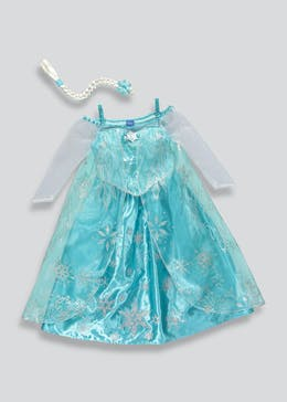 Kids Disney Frozen Elsa Dress Up Costume (3-11yrs)