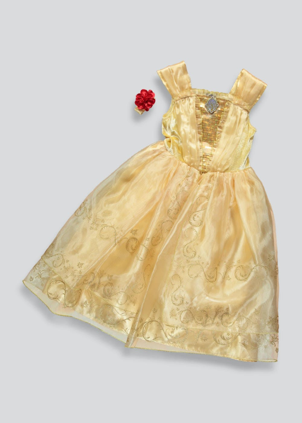 Kids Disney Belle Beauty And The Beast Fancy Dress Costume