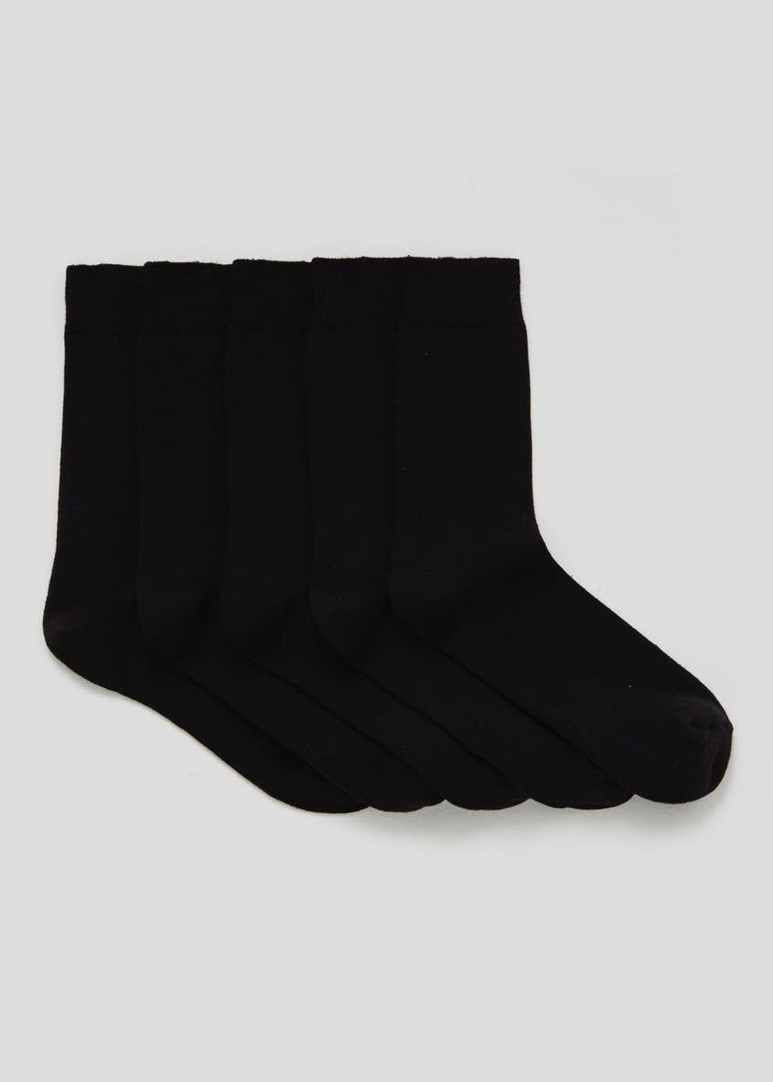 5 Pack Essential Plain Socks