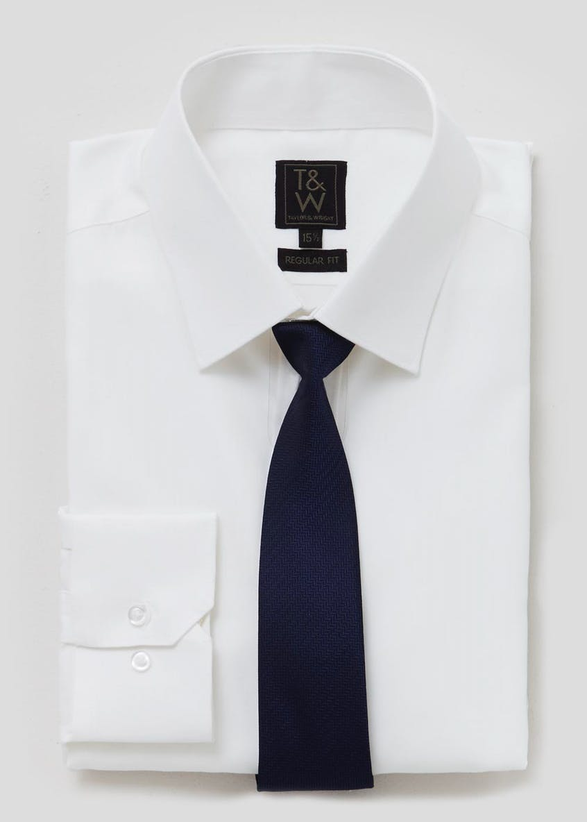 Regular Fit Shirt & Tie Set