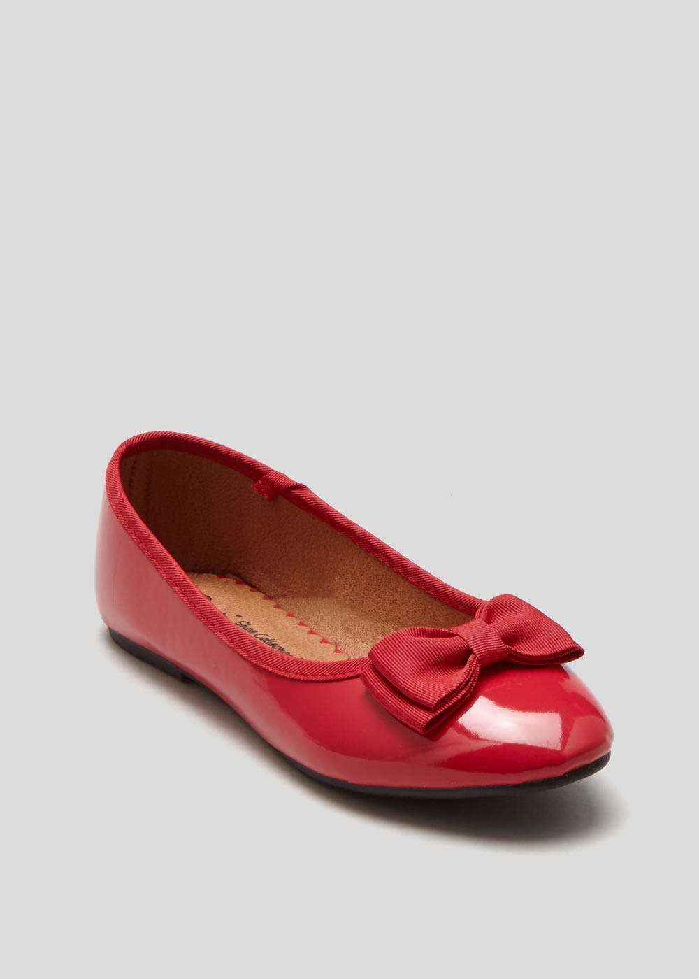 Girls Red Bow Ballet Shoes (Younger 10