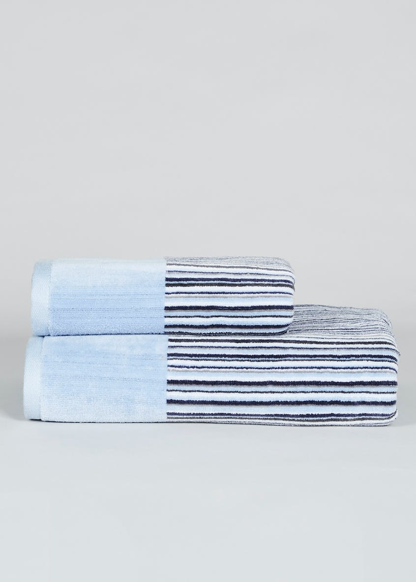 Striped Velour Towels