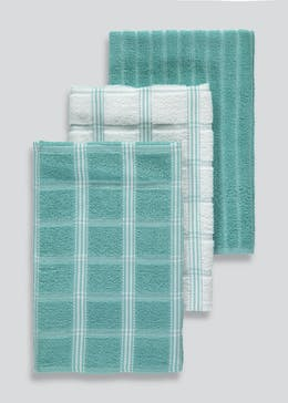 3 Pack Check Terry Tea Towels (65cm x 40cm)