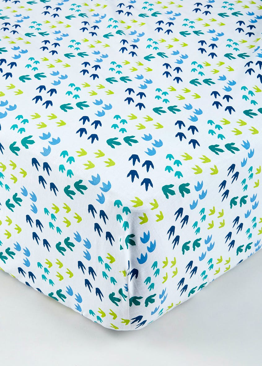 Dinosaur Print Fitted Sheet
