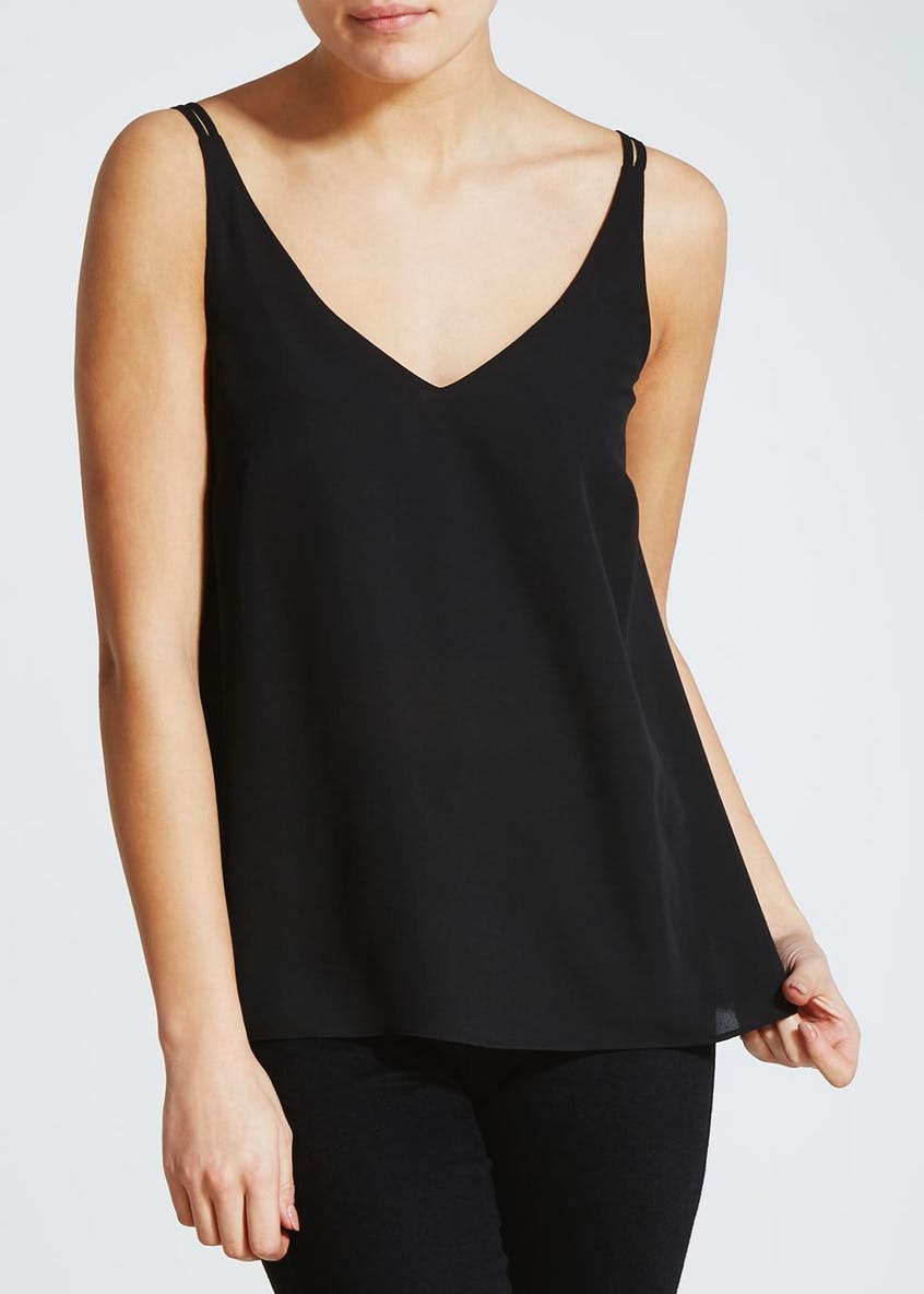 Black Double Strap Cami Top