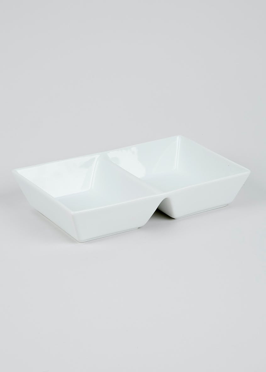 2 Section Serving Bowl (28cm x 19cm x 5cm)
