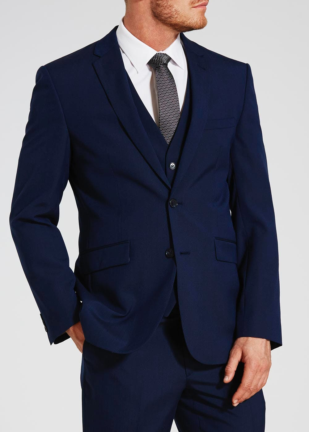 paddington tailored fit suit jacket navy matalan