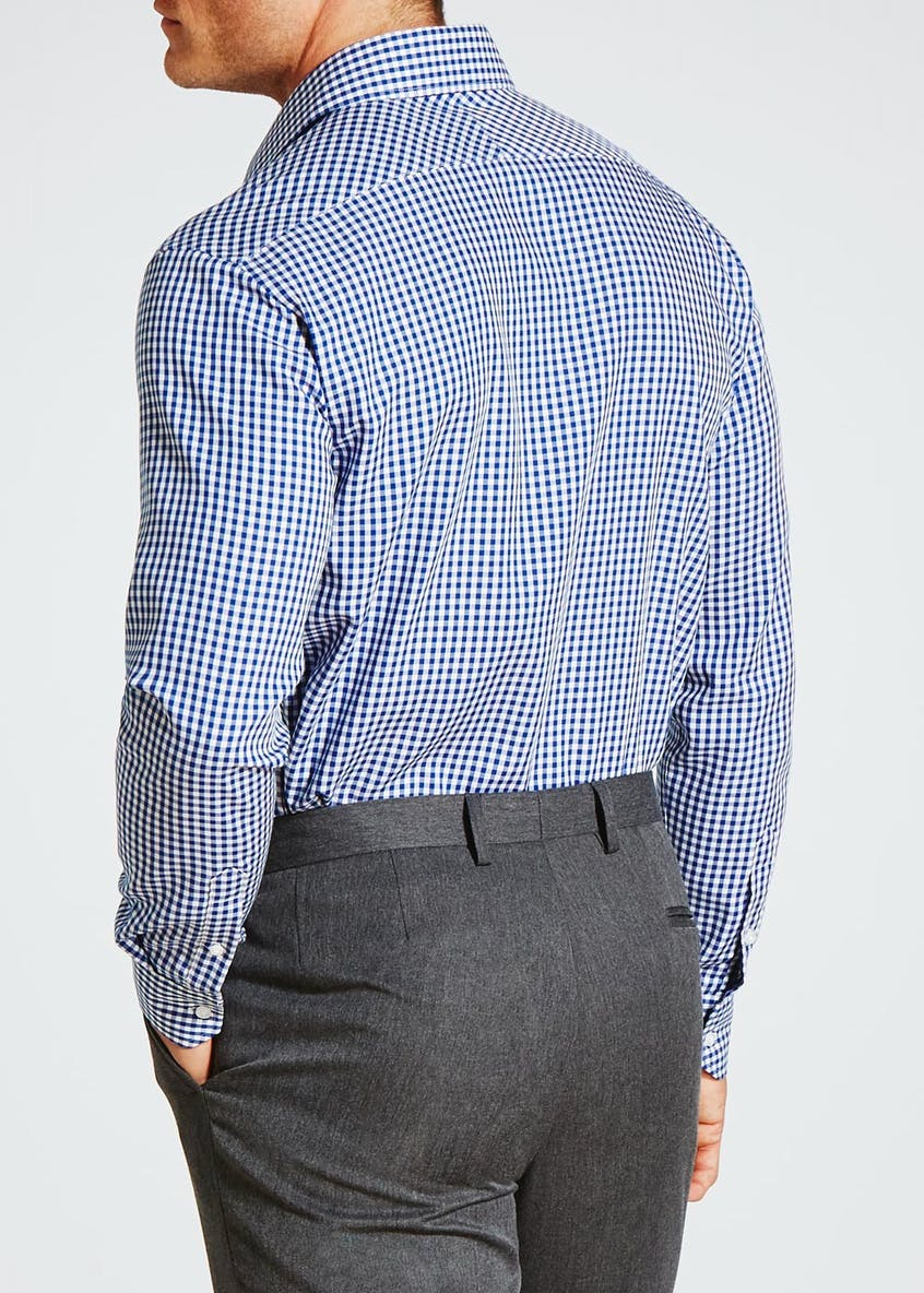 Easy to Iron Cotton Regular Fit Gingham Shirt