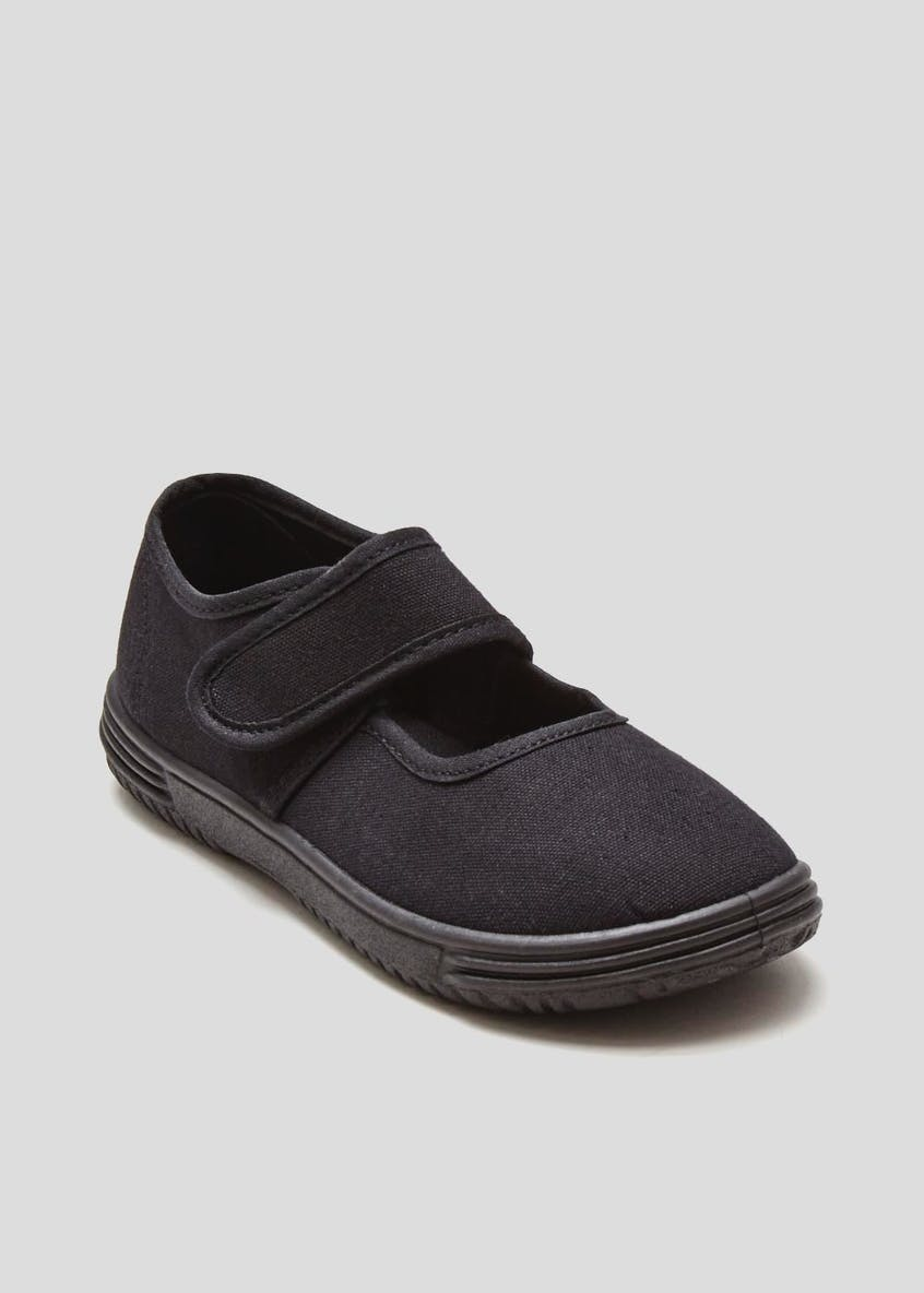 Girls Black Ballet Plimsolls (Younger 7-Older 3)
