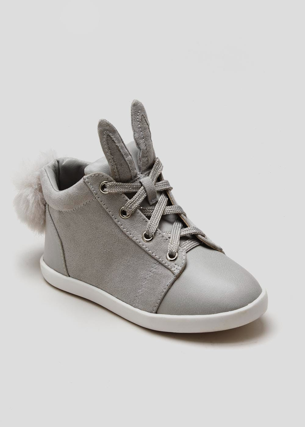 a4641d41a51e Girls Bunny Hi Tops (Younger Kids 4 - 12) – Grey – Matalan