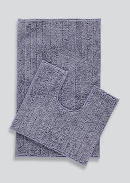 Quick Dry Bath & Pedestal Mat Set