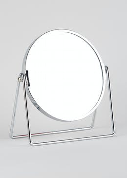 Wire Stand Circular Mirror (21cm x 19cm)