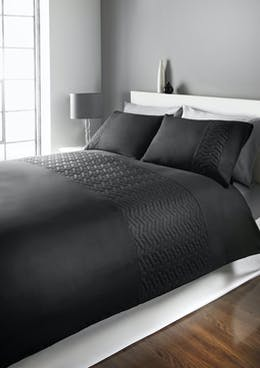 Quilted Geometric Duvet Cover
