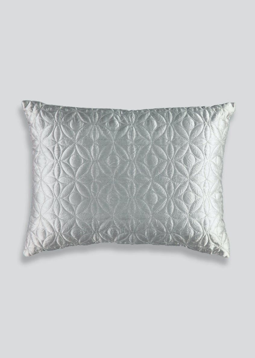Geometric Quilted Cushion (40cm x 28cm)