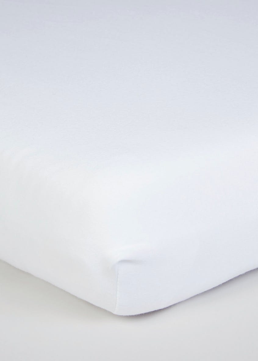 Unisex 2 Pack Cotbed Sheets (70cm x 140cm)