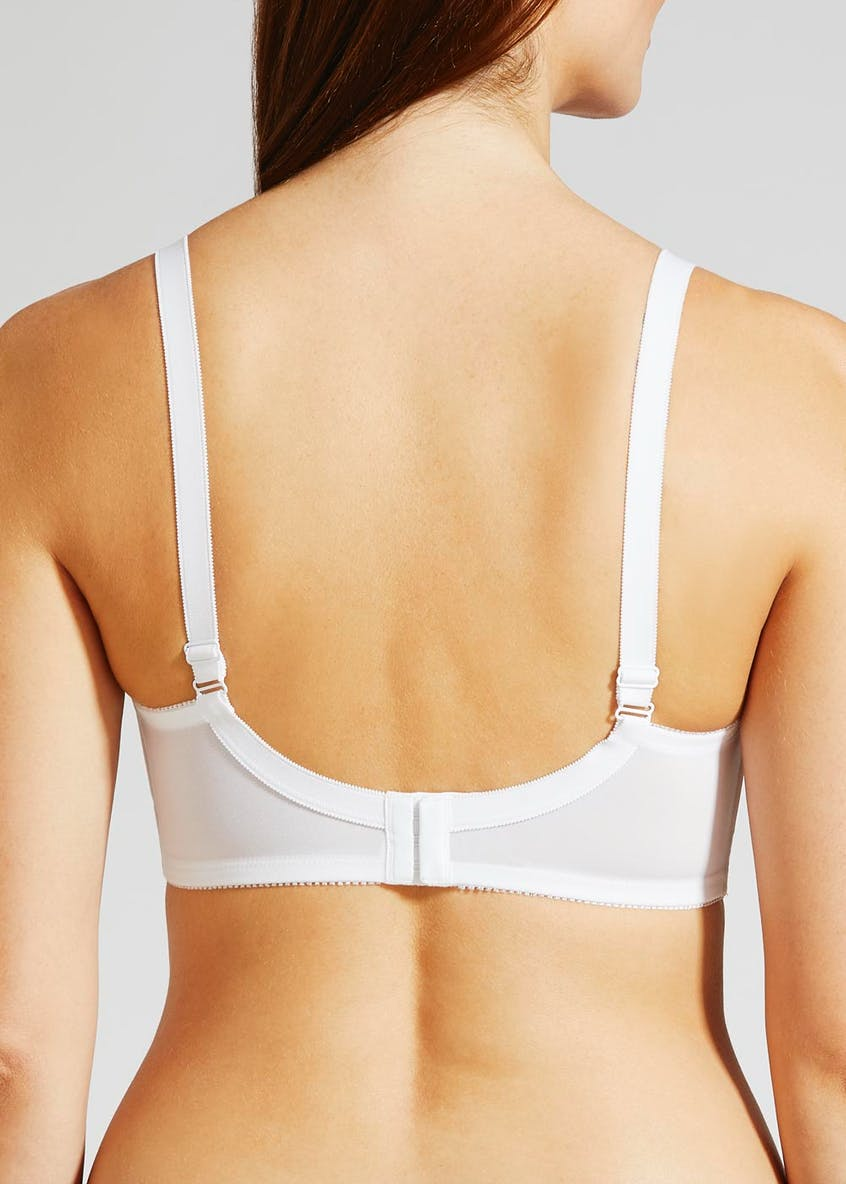 Non-Wired Firm Embroidered Cross Over Bra