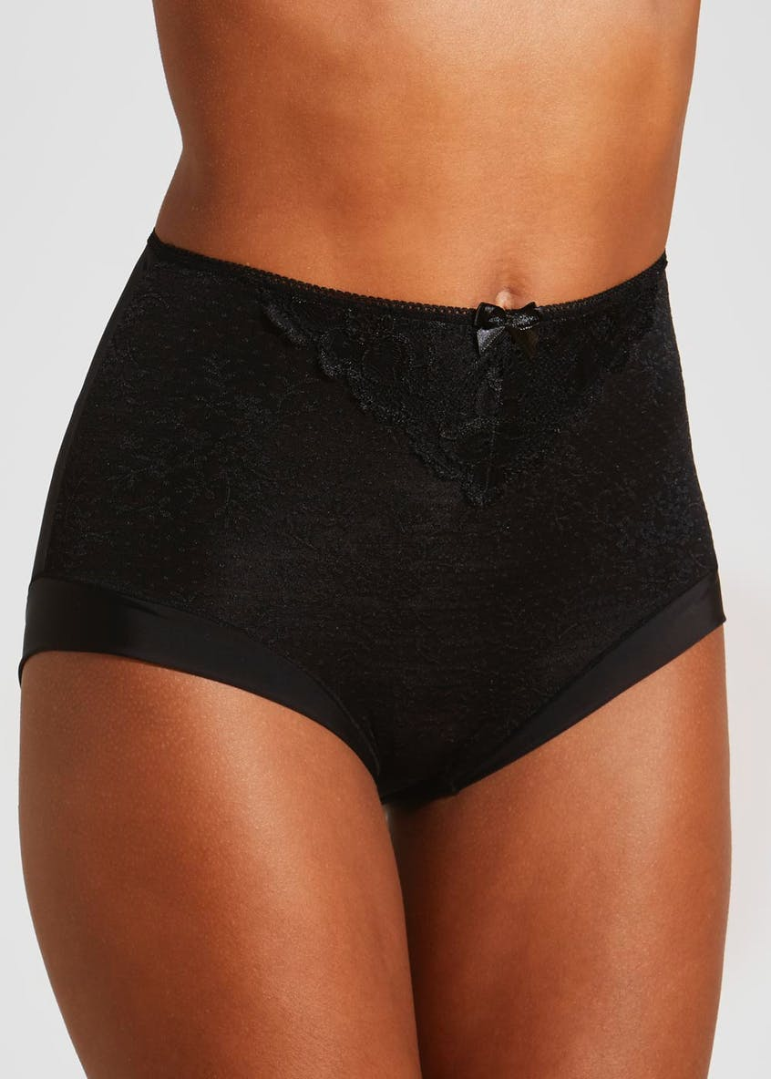 Jacquard & Lace Full Knickers