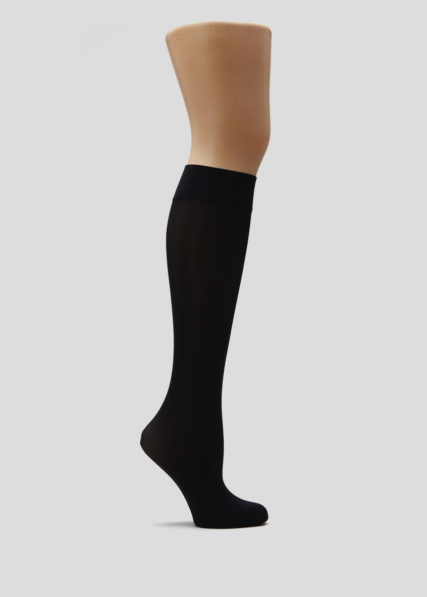 2 Pack 40 Denier Opaque Knee Highs