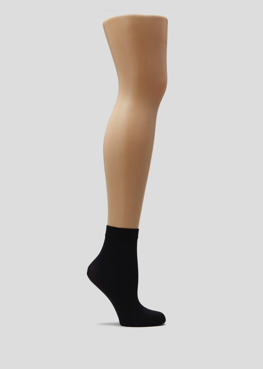 2 Pack 40 Denier Opaque Ankle Highs